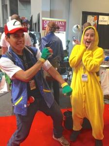 Ash Ketchum and Pikachu from Pokémon