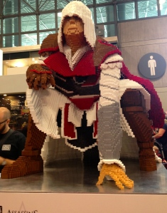 Assassin's Creed lego sculpture in The Block