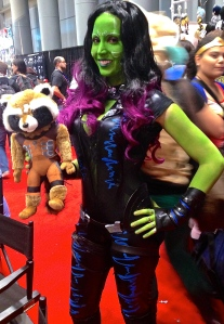 Gamora (and Rocket) from Guardians of the Galaxy