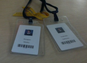 Students feel secure with their new school identification cards.