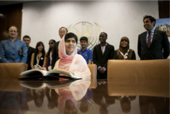 Malala Yousafzai at the United Nations last year. Photo Credit: New York Times