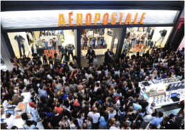 "A crowd of fans eagerly await Bethany Mota's arrival during her 'Motavatour."" Photo Credit: Zimbo.com"