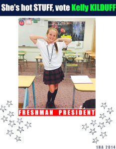 Kelly Kilduff is excited to begin her role as freshman class president at Immaculate Heart Academy this year.