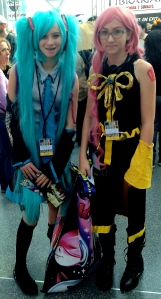 Hatsune Miku and Megurine Luke from Vocaloid