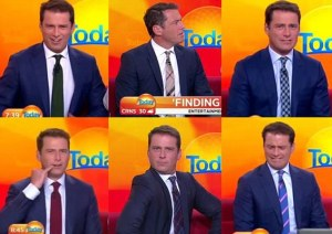 Australian news achorman,  Karl Stefanovic, wears the same blue suit every day to prove that sexism exists in the world. Photo Credit: UK Daily Mail