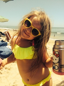 Jenn Delekta's daughter enjoys a glorious day at the beach  incorporates photos of her daughter at the beach, according to Instagram. Photo Credit: The Huffington Post