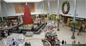 Christmas decorations are already up at Willowbrook Mall in Wayne, NJ. Photo Credit: The New York Times
