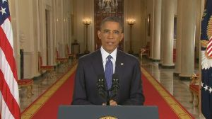 President Barack Obama delivering his immigration speech on live television.  Photo credit: www.kare11.com