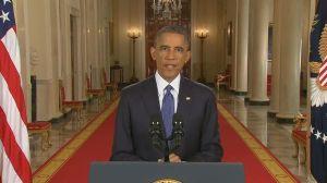 President Barack Obama delivering his immigration speech on live television.  Photo credit: www.kare11.com