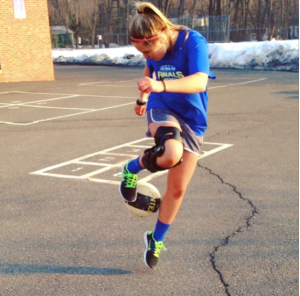 Jordan Stefanacci spends her summers working on her soccer skills.  Photo Credit: Ryan Stefanacci