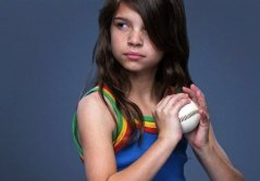 "A young girl shows what it means to fight ""like a girl.""  Photo Credit: Always #likeagirl"