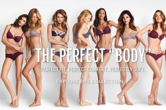 "Victoria's Secret ""The Perfect Body"" campaign sends a negative message to all females about body image.  Photo Credit: New York Post"
