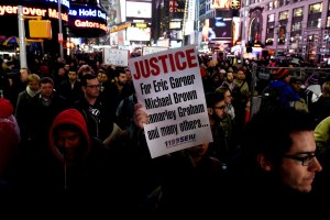 Protestors gather in Times Square following the Garner decision on Wednesday. Photocredit: Buzzfeed