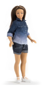 "The new Lammily doll has been called the ""normal Barbie"" Photo Credit:lammily.com"