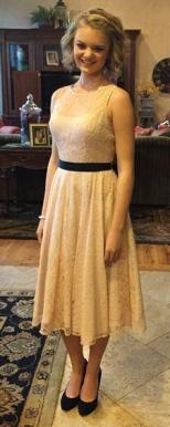 Gabi Finlayson's dress was considered a violation of her school's dress code because of her straps. Photo Credit: Kristy Kimball and Yahoo! News