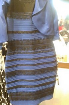 """""""The Dress"""" is currently trending on Twitter due to the debate about the colors. Many viewers claim the dress is white and gold while other see the dress as blue and black. Photo Credit: Business Insider"""