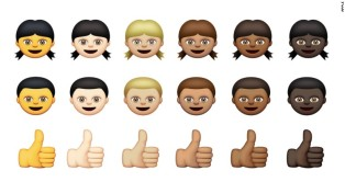 Apple's new emojis are now diversified to represent people of all ethnicities.  Photo Credit: CNN