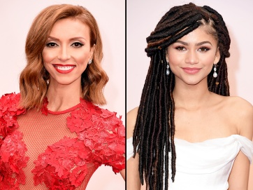 Disney actress, Zendaya, appears at the 87th Oscars with dreadlocks. Later on Fashion Police, host Guiliana Rancic criticized her look, saying that her hair probably smelled of weed and patchouli oil. Photo Credit: Us Magazine
