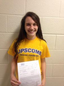 Montgomery continues to run competively for Lipscomb University while she is there on a scholarship.  Photo Credit: Twitter