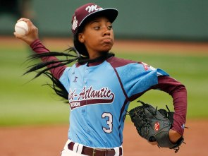 13-year-old Mo'ne Davis stars in the Little League World Series tournament pitching for her team, the Taney Dragons. She was just awarded the most influential teen of 2014 by Times Magazine. Photo Credit: People Magazine