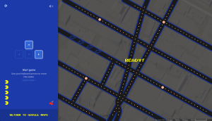 Google Maps allows users to play Pac-Man on their maps in honor of April Fools Day. Photo Credit: Google Maps