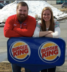 Ashley King and Burger will be getting married in July. Burger King is set to pay for the entire wedding.  Photo Credit: Cnn.com