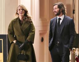 Adaline and Ellis are discussing going on their first date outside a hotel on New Years Eve in the movie Age of Adaline. Photo Credit: Cinematic Shadows
