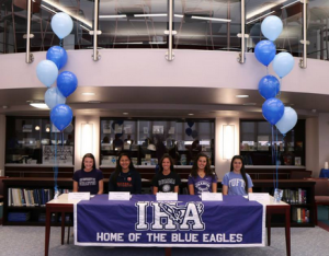 Five seniors happily commit to their future schools