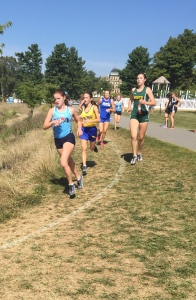 Megan Brockmeier '17 runs her way to placing in the the Magee Invitational Meet. Photo Credit: Emily Bommer
