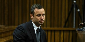 Oscar Pistorius in court. Photo Credit: The Huffington Post