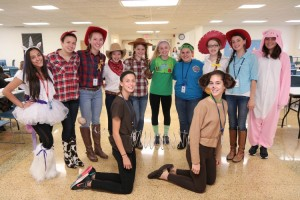 Freshman pose in their Disney costumes. Photo Credit: Patrizia Proscia
