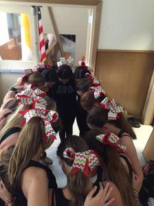 The Dance Team preparing for their performance. Photo Credit: Sarah Shutrop