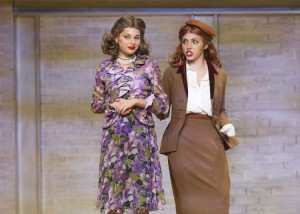 Seniors Victoria Duffy, playing Dorothy Brock, (left) and Mary Kate Hall, playing ______ (right) enjoy their last IHA Musical. Photo Credit: IHA