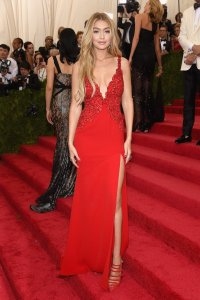 Gigi Hadid at her first Met Gala in May 2015. Photo Credit: Pop Sugar