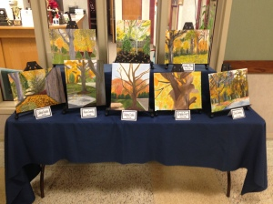 Outdoor paintings by the Advanced Painting and Drawing class were on display. Photo Credit: