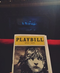 The Les Miserablés Playbill. Photo Credit: Riley Maloney