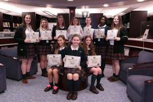 Students accept their Soaring Eagle Awards. Photo Credit: IHA