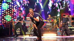 Chris Martin and Coldplay performing at the Super Bowl half-time show. Photo Credit: CNBC