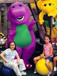 Demi Lovato and Selena Gomez were on Barney and Friends together from 2002 to 2004. Photo Credit: Fanpop