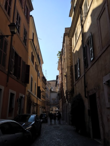 A road in Trastevere. Photo Credit: Julia Nasiek '16