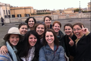 A selfie of the group who attended the pilgrimage. Photo Credit: Julia Nasiek '16
