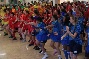 At IHA, the sophomores enjoy a fun-filled sophomore spirit day. Photo Courtesy of Immaculate Heart Academy.