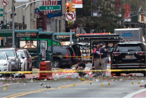 Police scene after one of the bombs detonated in New York City. Photo Courtesy of International Business Times