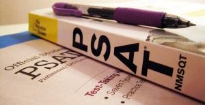 Useful books for PSAT prep. Photo courtesy of Magoosh High School Blog
