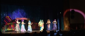 """Ariel's sisters and Flounder perform """"She's In Love"""". Photo courtesy of Bernadette Goratowski'19"""