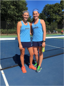 Julianna Zeepvat'17 and Reagan Bossolina'17 pictured at County Match. Photo courtesy of the Zeepvat family