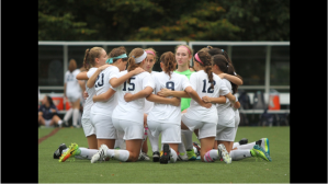 The soccer team prepares for a win. Photo courtesy of News12Varsity