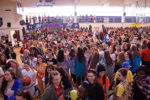 Students enter the gym for the pep rally. Photo courtesy of Immaculate Heart Academy