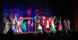 "The cast performs ""Under the Sea"". Photo courtesy of Bernadette Goratowski'19"