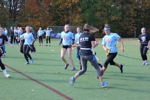 The freshmen and sophomore classes face off in the first match of the tournament. Photo courtesy of Lisa Ferioli'18